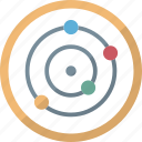 copernican system, heliocentric system, planetary system, planets icon
