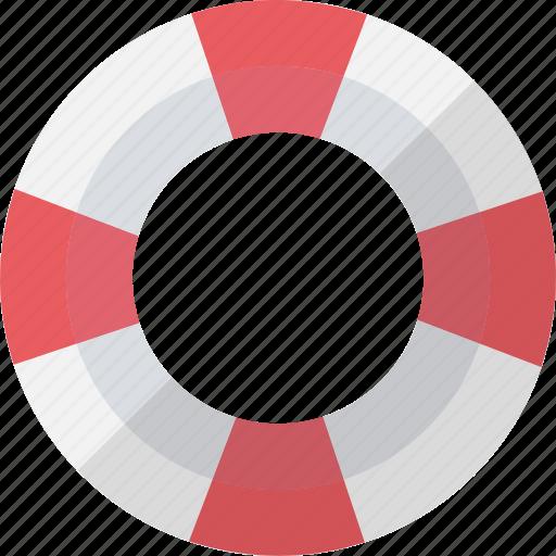 life buoy, life ring, lifeguard, lifesaver icon