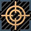 gun sight, sniper scope, sniper sight, sniper symbol icon