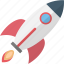 flying rocket, missile, rocket, rocket launch icon