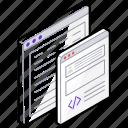 html, web application, web coding, web design, web development, web programming icon
