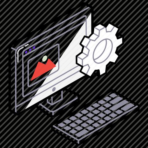 system settings, web desktop, web development, web improvement, web progress icon