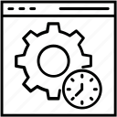 cog, optimization, seo, settings, website optimization icon