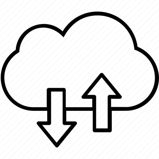 cloud computing, computing, download, network, upload icon