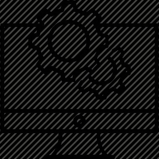 cog, cogwheel, preferences, web development, web page icon