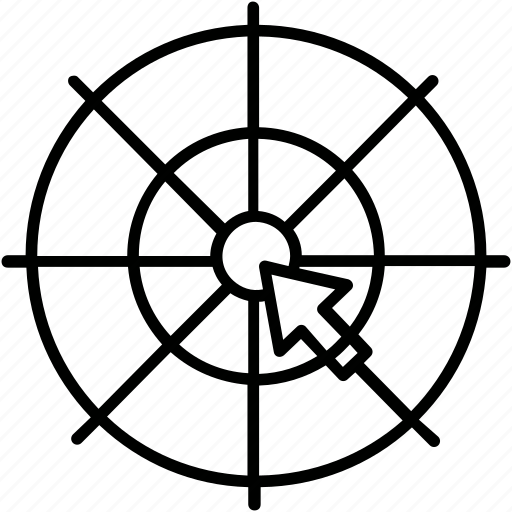 bullseye, business, click, strategy, target icon