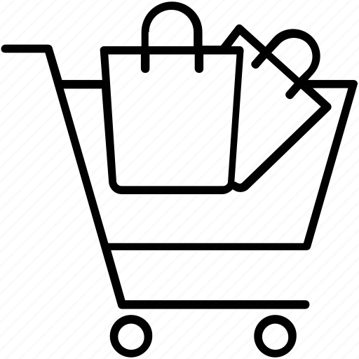 bag, cart, e commerce, tote, trolley icon