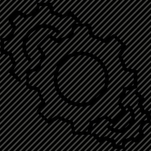 cog, cogwheel, gear, preferences, process icon