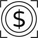 currency, dollar, earning, exchange, money icon