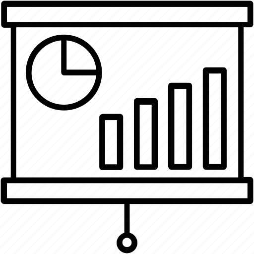 analysis, bar, pie, presentation, statistics icon