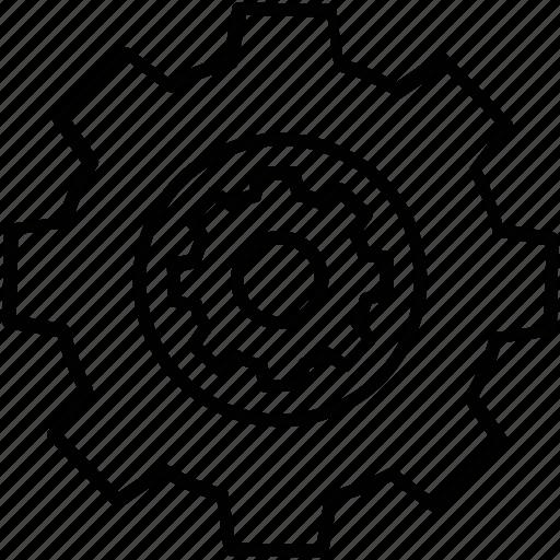 cog, configure, management, person, progress icon