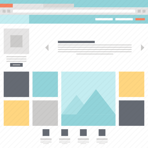 design, landing, layout, page, template, web, website icon
