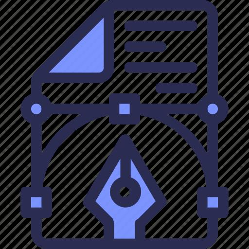 anchor, curve, design, development, draw, line, pen icon