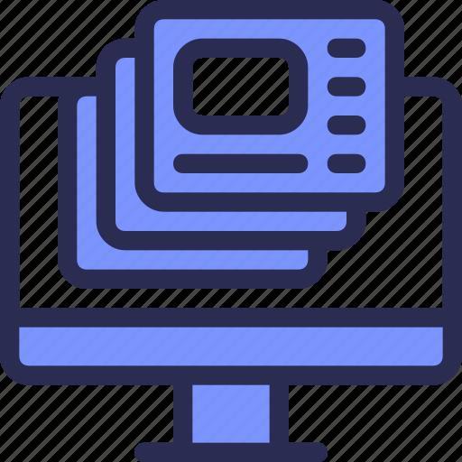 Development, task, application, computer, design, multitasking, copy icon