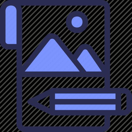 design, development, draw, pencil, picture, sketch icon