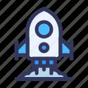 boost, design, development, launching rocket, speedup, web icon