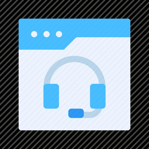 Call center, design, development, headphone, help, support, web icon - Download on Iconfinder