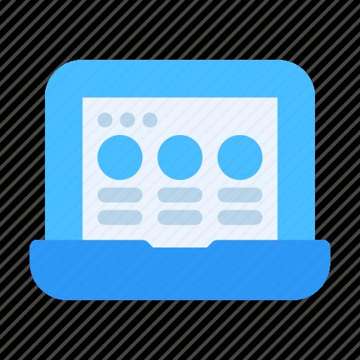 Browser, computer, design, development, interface, laptop, web icon - Download on Iconfinder