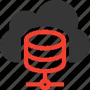 cloud, database, host, hosting, server, settings, share icon