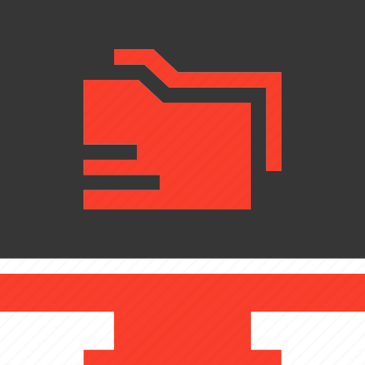 Computer, directory, electronics, folder, monitor icon - Download on Iconfinder
