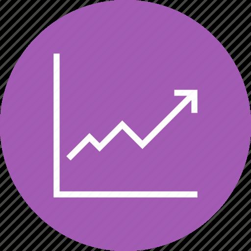 finance, graph, growth, revenue, sales, stock icon