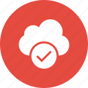 accept, check, cloud, done, mark, marked icon