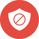 ads, block, safe, shield icon