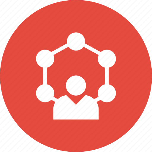affiliate, arrows, network, user icon