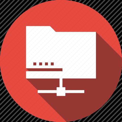 folder, network, share icon
