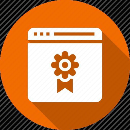 badge, quality, ranking, star, web, website icon