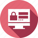 computer, monitor, security, user icon