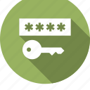 access, entry, key, latchkey, password, unlock, vintage icon