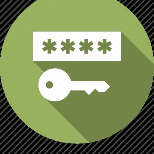 access, entry, key, latchkey, password, unlock, vintage icon