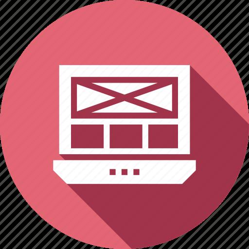 adaptive, laptop, layout, responsive, web icon