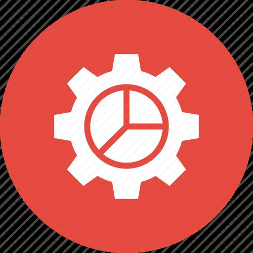Analytics, chart, cog, gear, graph, pie icon - Download on Iconfinder