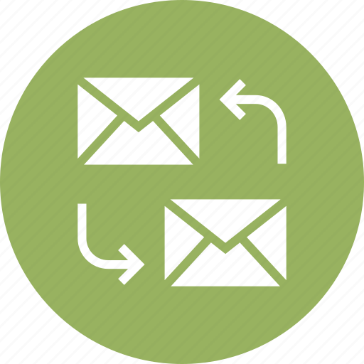 Send, react, to, reply, answer, mail icon