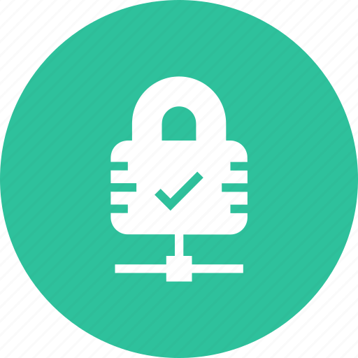 approve, check, lock, secure, security, yes icon