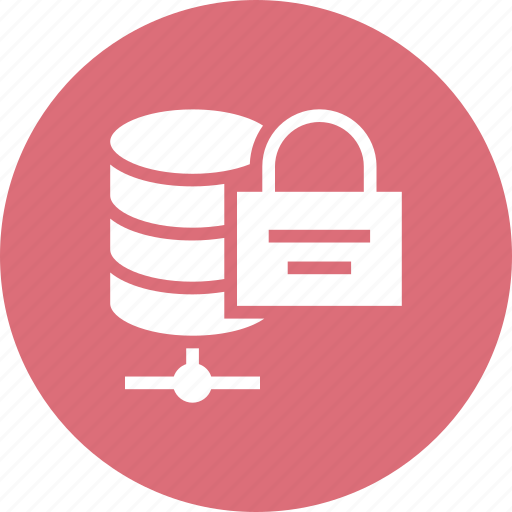 array, hosting, lock, network, rack, server, storage icon