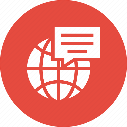 blue, chat, global, globe, international, language, travel icon