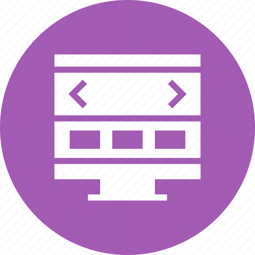 browser, display, monitor, page, screen, site, web icon