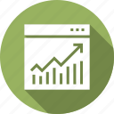 analystic, app, application, browser, graph, internet, page icon