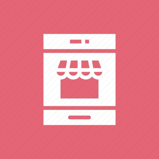 cart, mobile, shop icon
