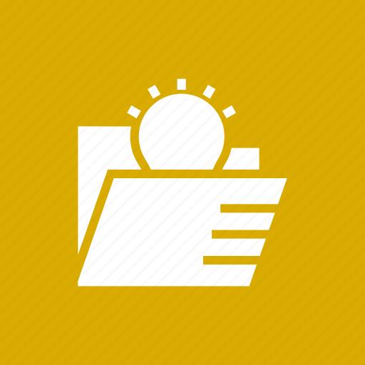 blub, bright, folder, idea, lightbulb, solution, storage icon