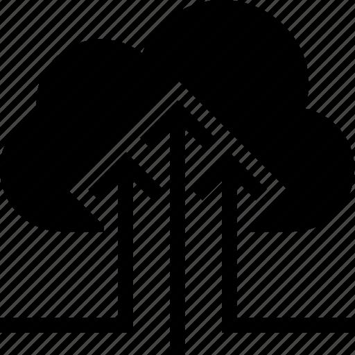 cloud, computing, data, transfer, upload icon