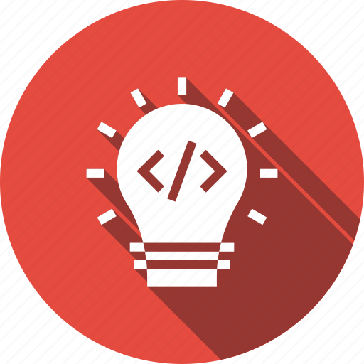 bulb, code, coding, idea, light, program, programming icon