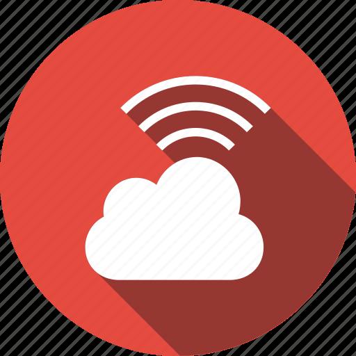 cloud, computing, network, wifi, wireless icon