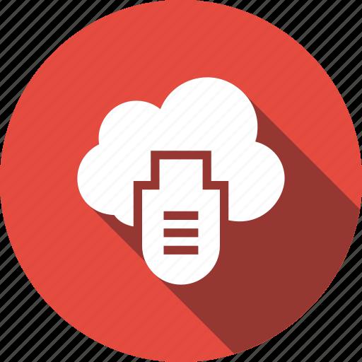 cable, cloud, computing, icloud, usb icon