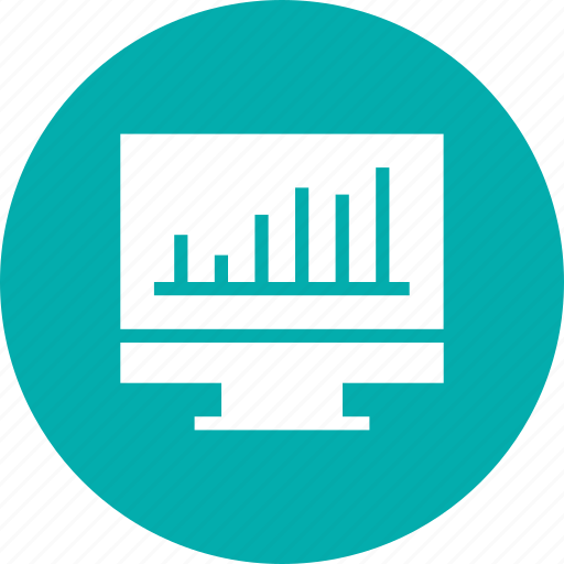 business, graph, monitor icon