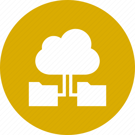 Cloud, computing, data, folders, storage, with icon - Download on Iconfinder
