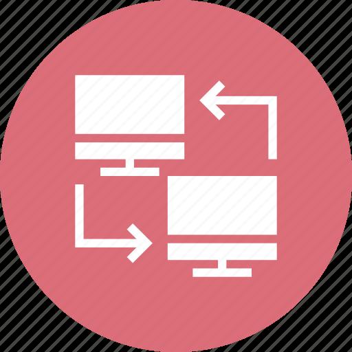 cloud, computing, data, exchange, monitor, share icon